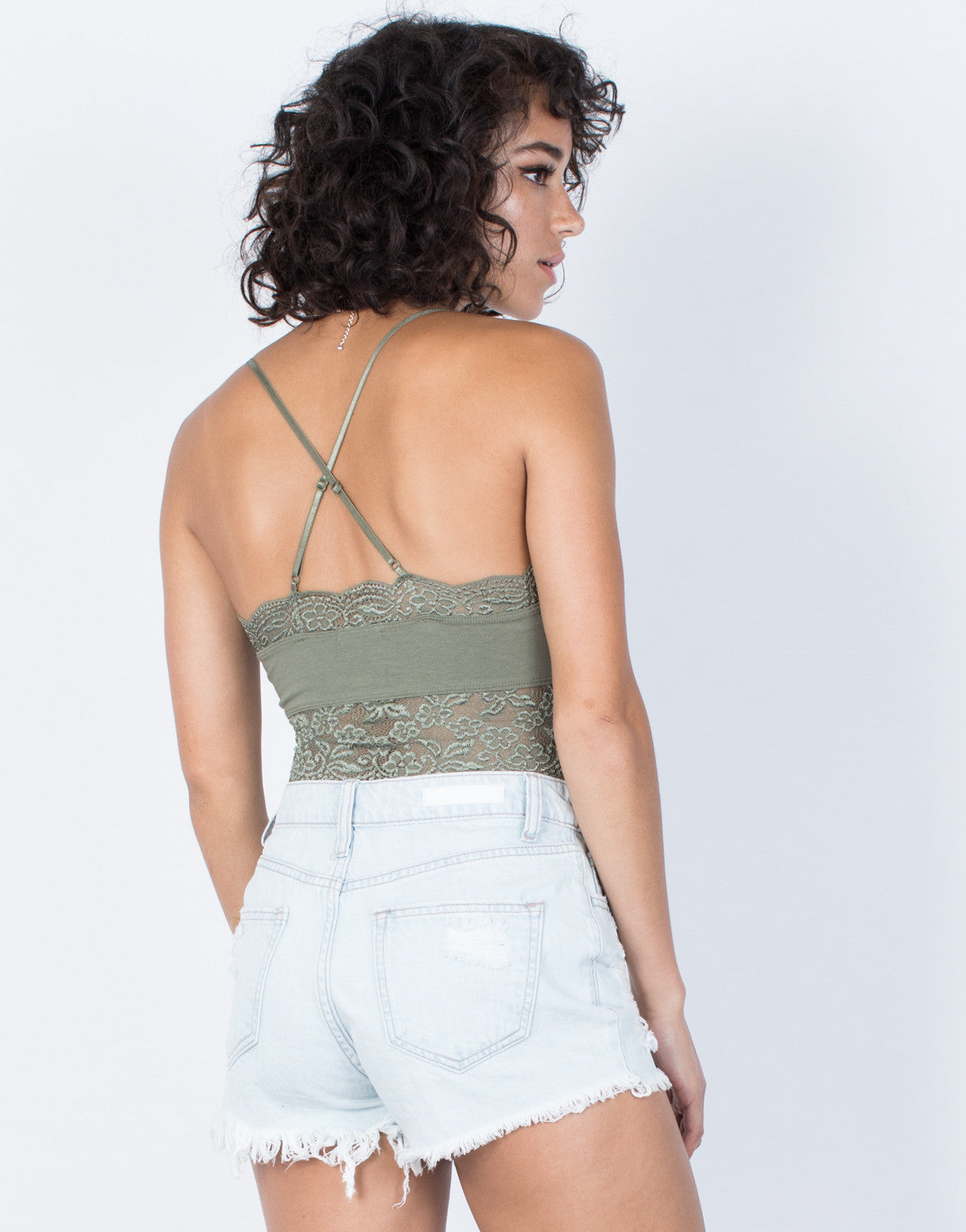 Olive Miranda Lacey Top - Back VIew