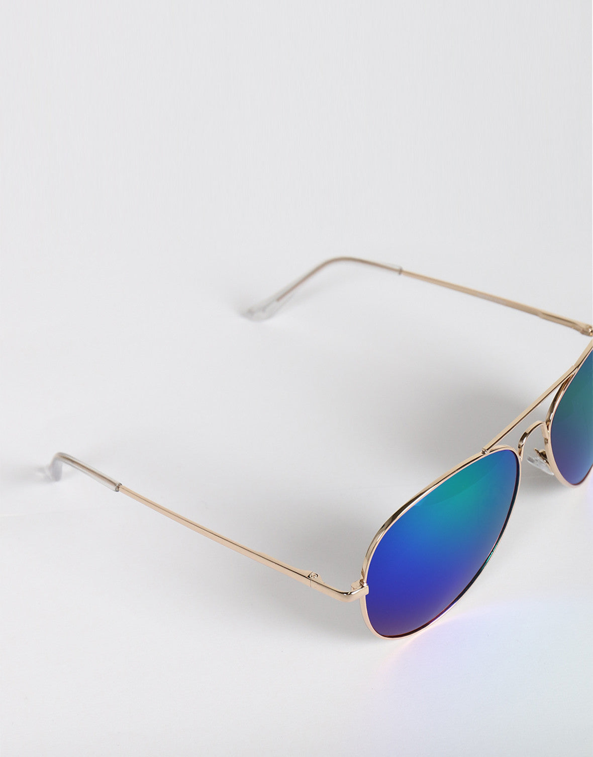 Mirrored Aviator Bar Sunglasses (+Colors)