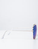 Side View of Mirrored Aviator Sunglasses