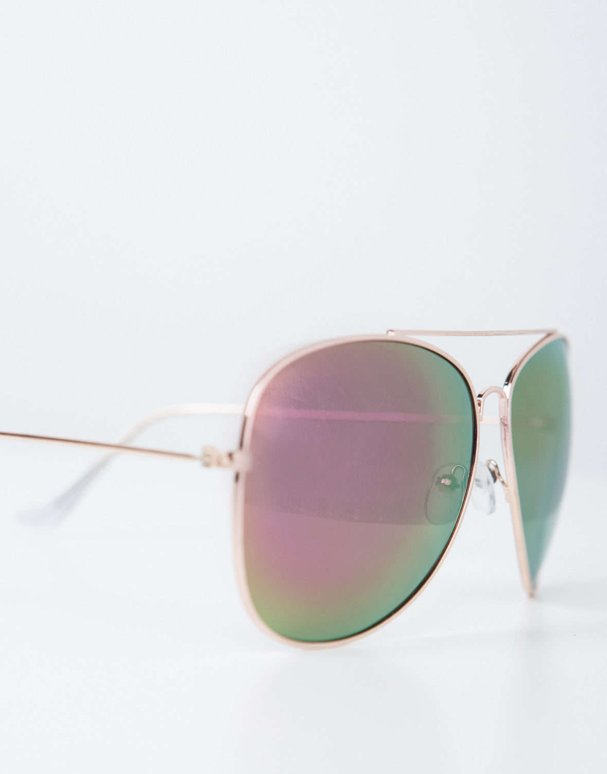 Detail of Mirrored Aviator Sunglasses