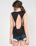 Back View of Miss Knot It All Graphic Tank