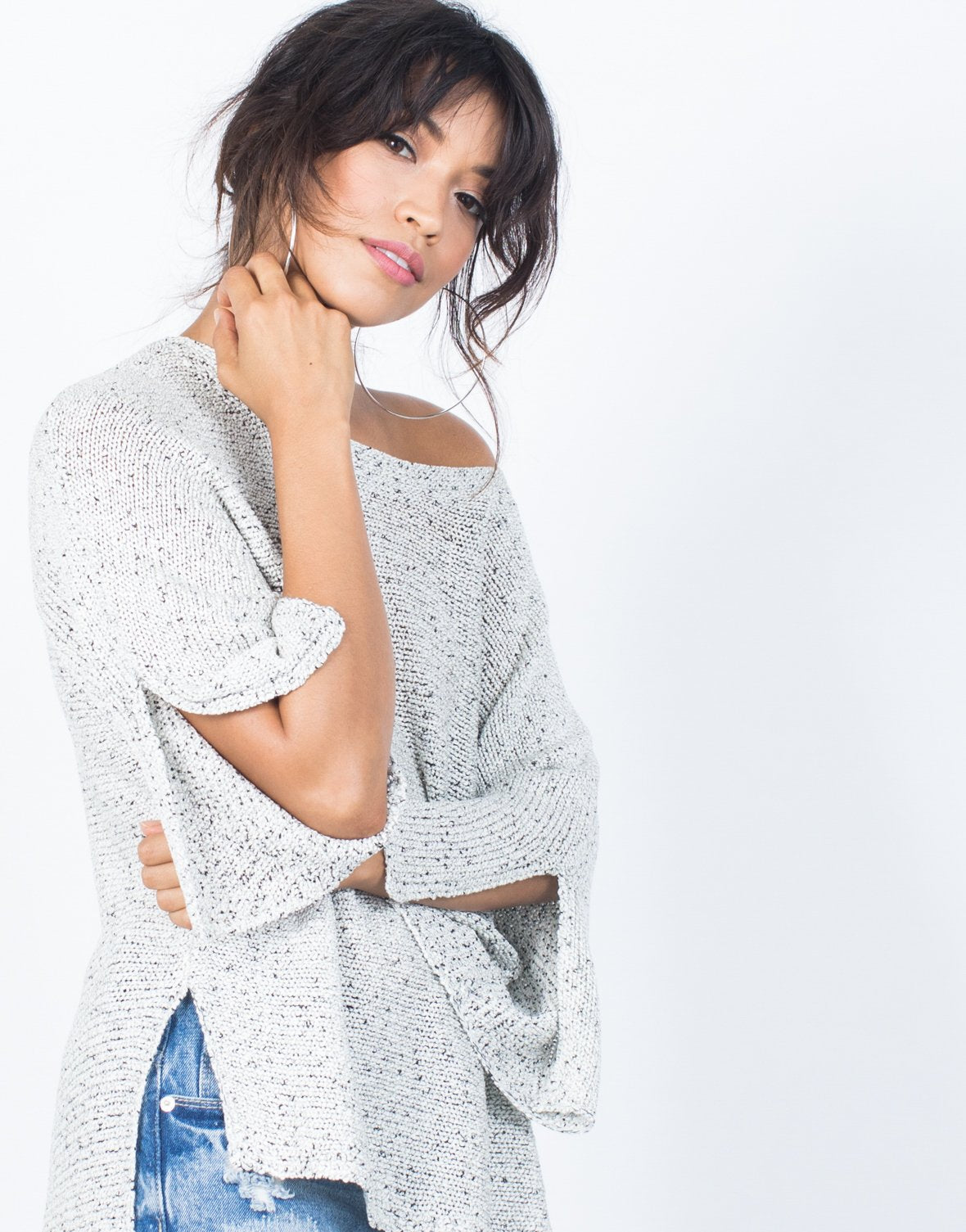 Mixed Knit Day Sweater - 2020AVE