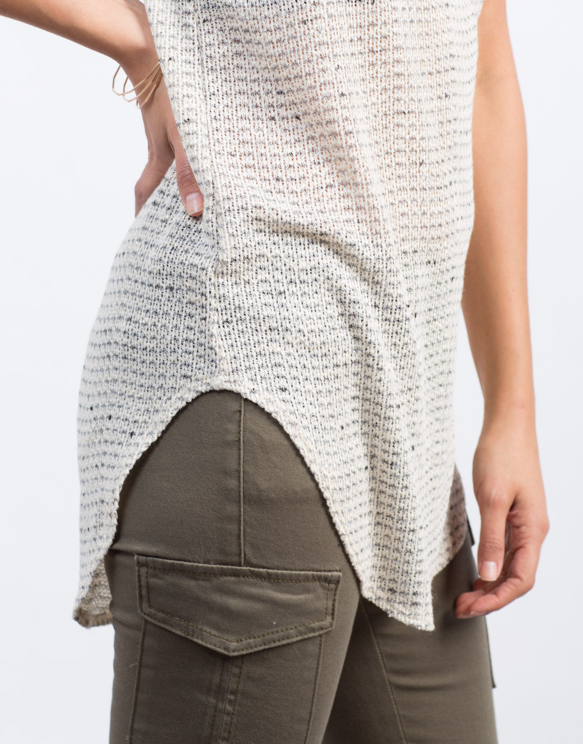 Detail of Mixed Knit Tank