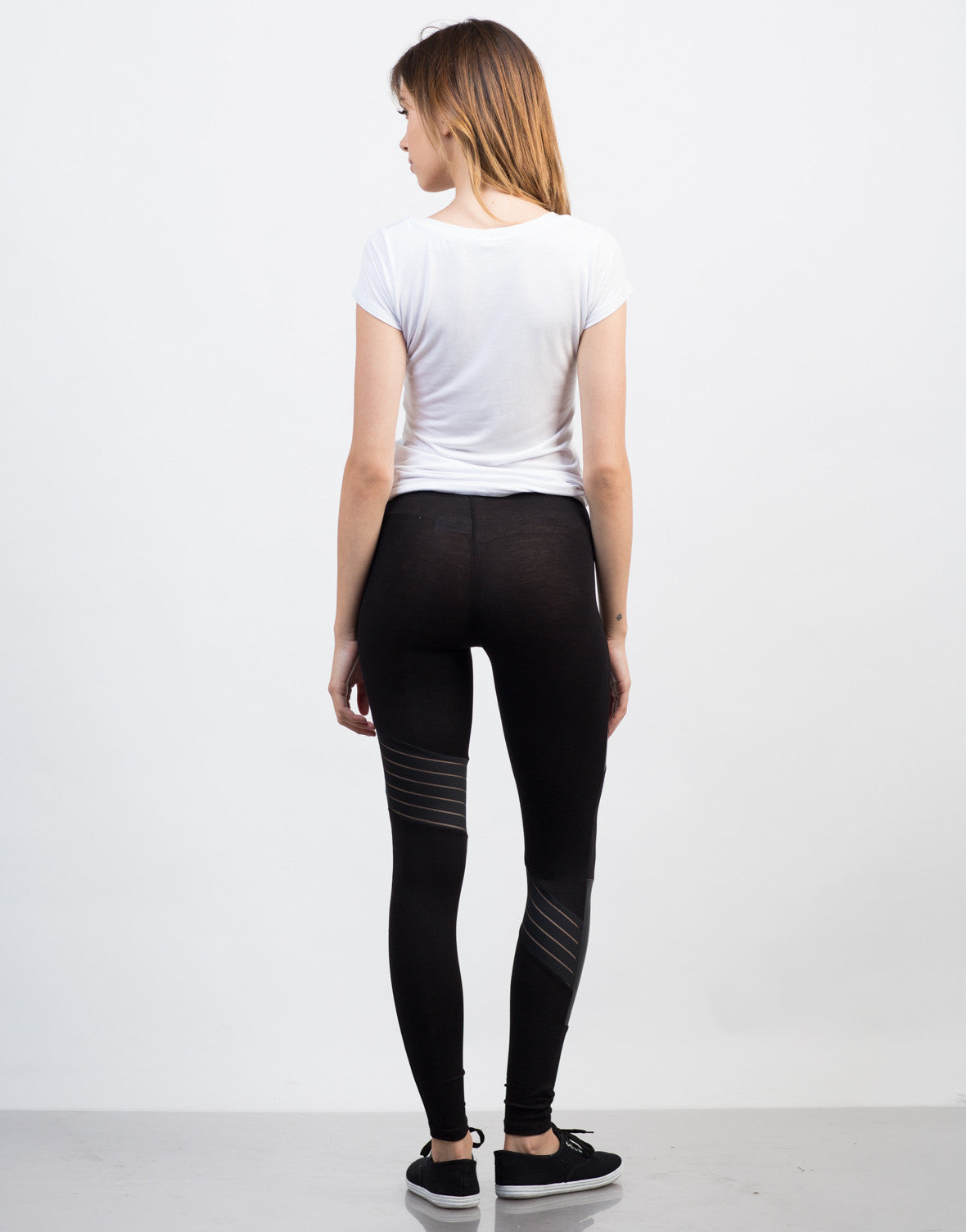 Back View of Mixed Up Leggings