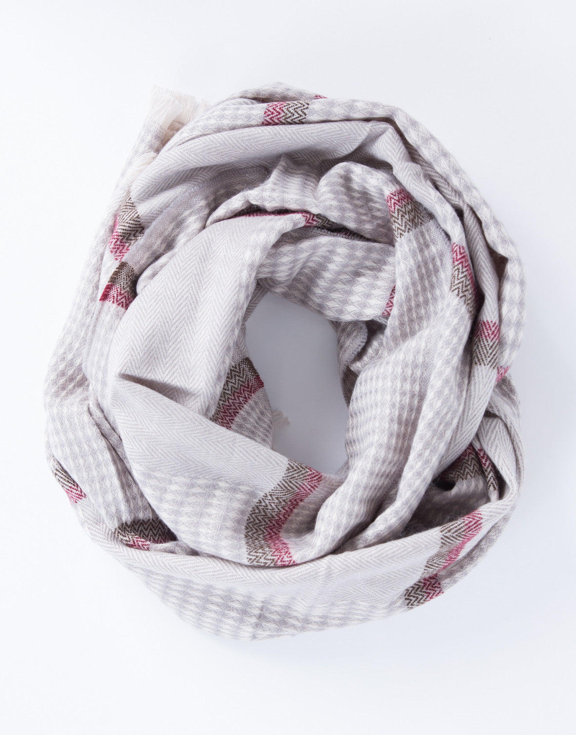 Mixed Woven Printed Scarf
