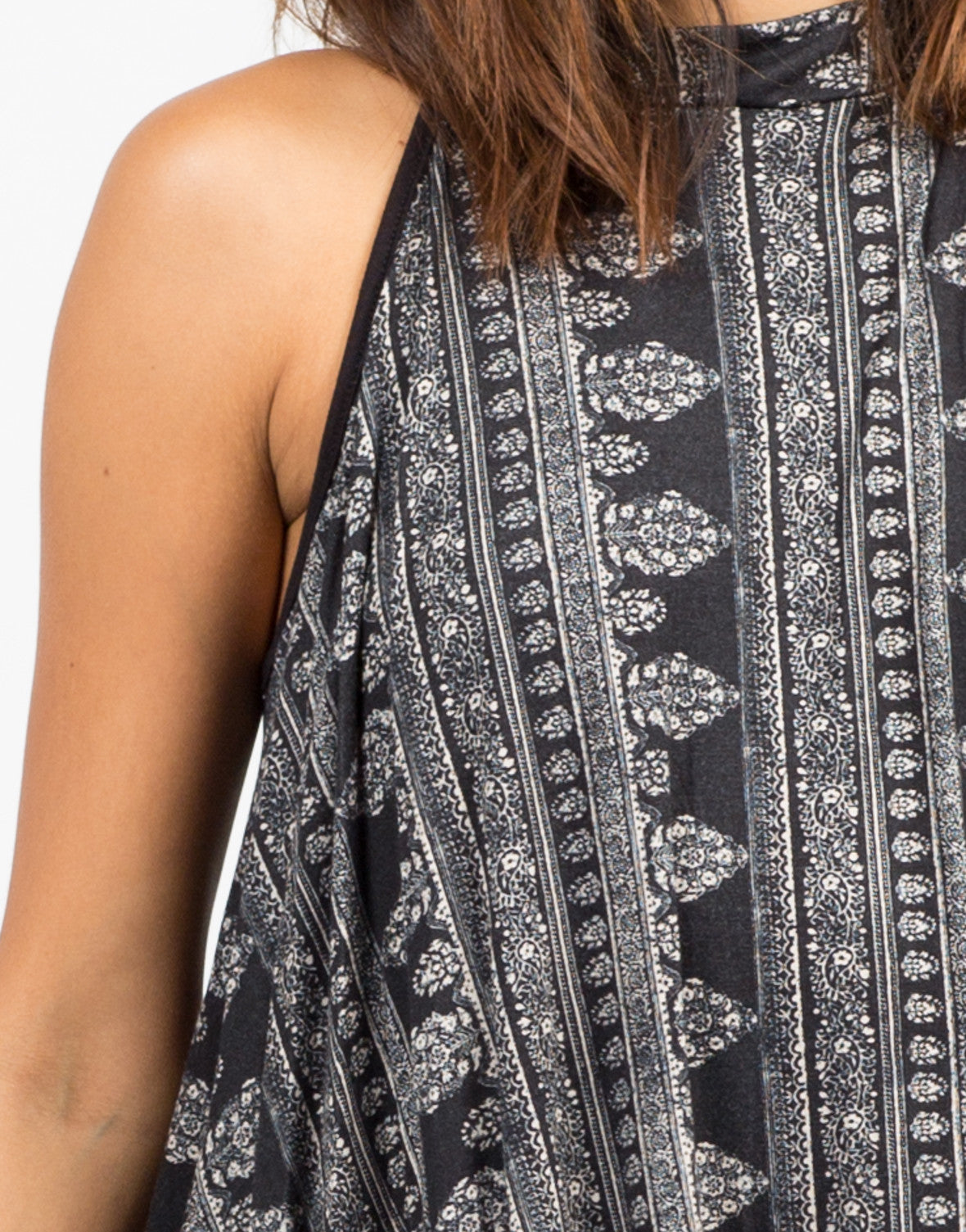 Detail of Mix Printed Swing Dress