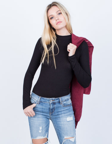Mock Neck L/S Bodysuit