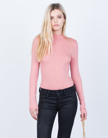 Mock Neck L/S Bodysuit - 2020AVE