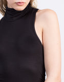 Detail of Mock Neck Sleeveless Tunic Top