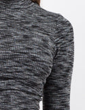 Detail of Mock 3/4 Sleeve Top