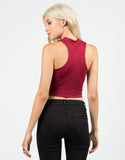 Back View of Mock Neck Crop Top