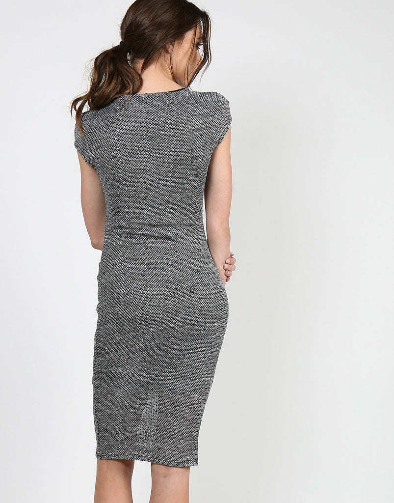 Mock Neck Midi Dress - 2020AVE