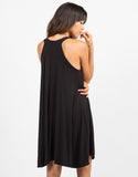 Back View of Mock Neck Rayon Dress