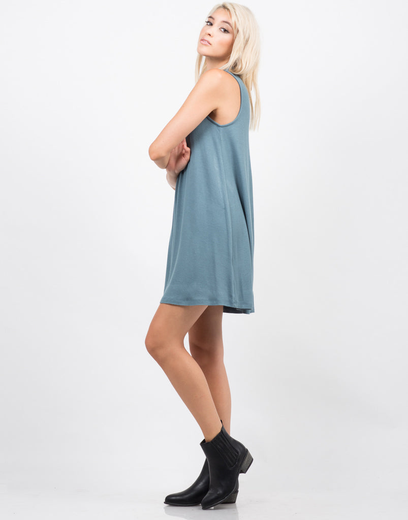 Mock Neck Tank Dress - 2020AVE