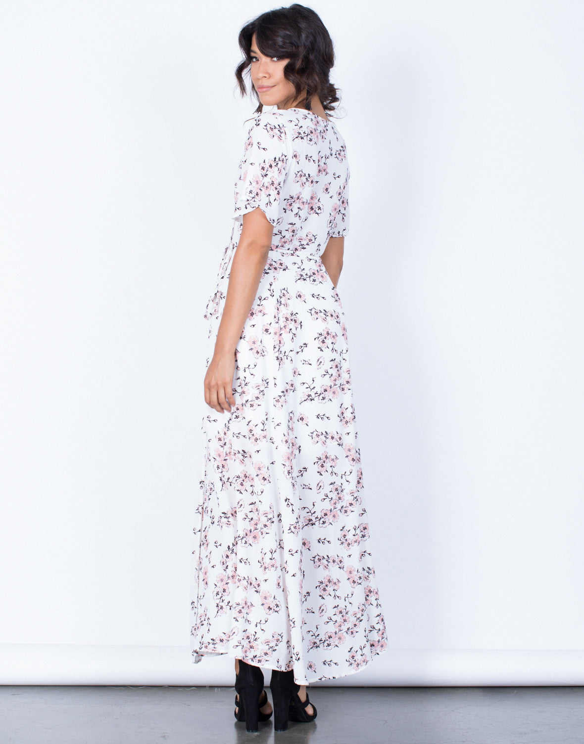 Back View of Morning Bloom Floral Dress