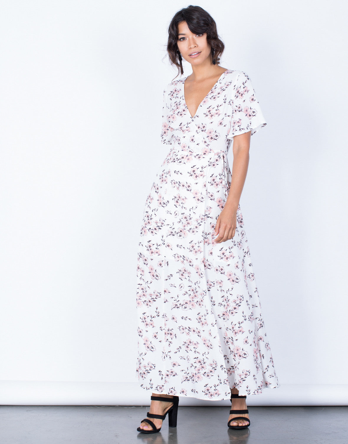 Front View of Morning Bloom Floral Dress