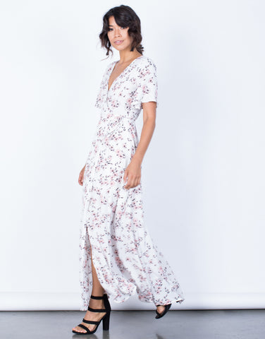 Side View of Morning Bloom Floral Dress