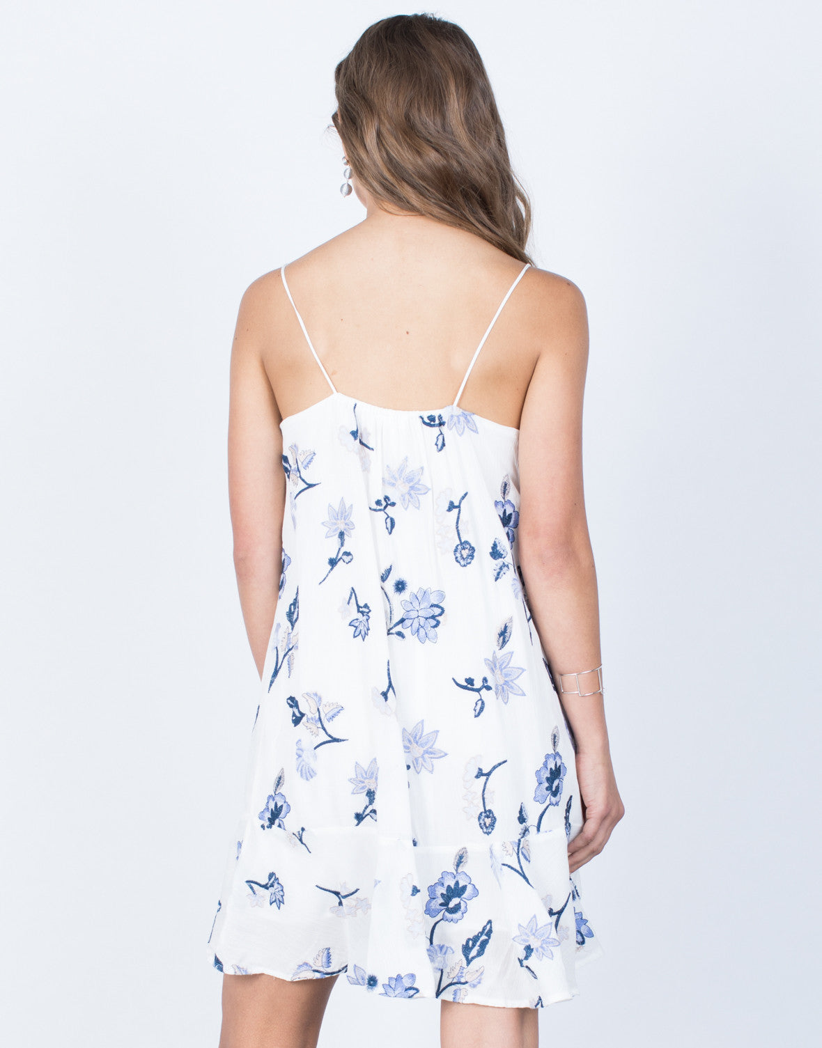 Back View Morning Glory Floral Dress