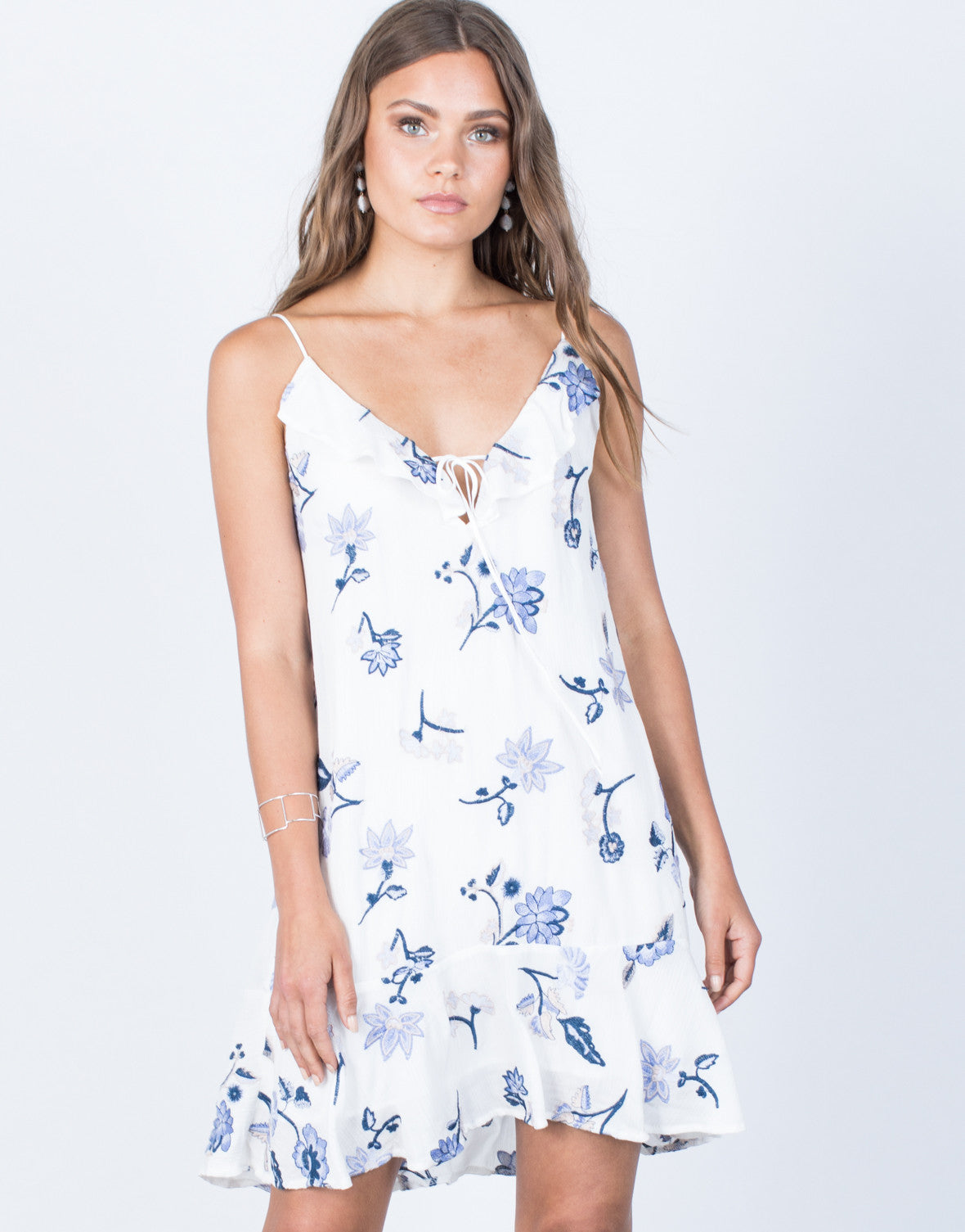 Front View Morning Glory Floral Dress