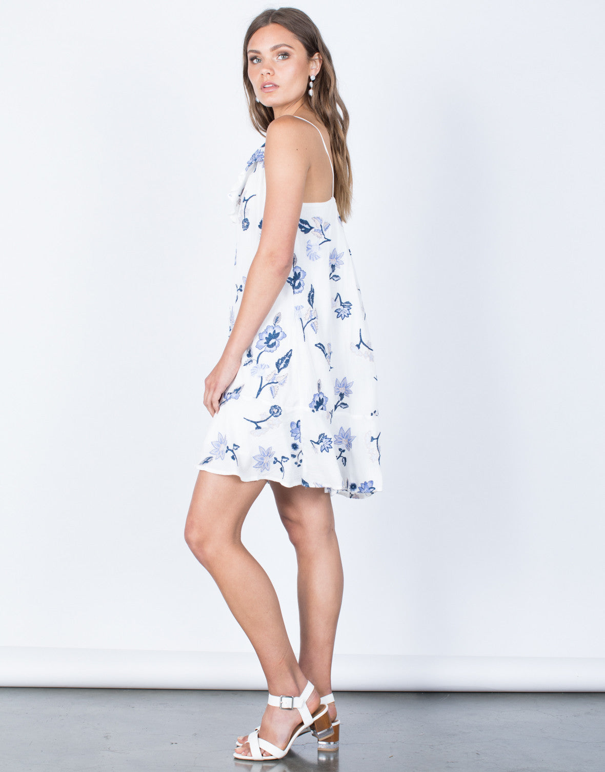 Side View Morning Glory Floral Dress