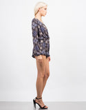 Side View of Mosaic Printed Romper