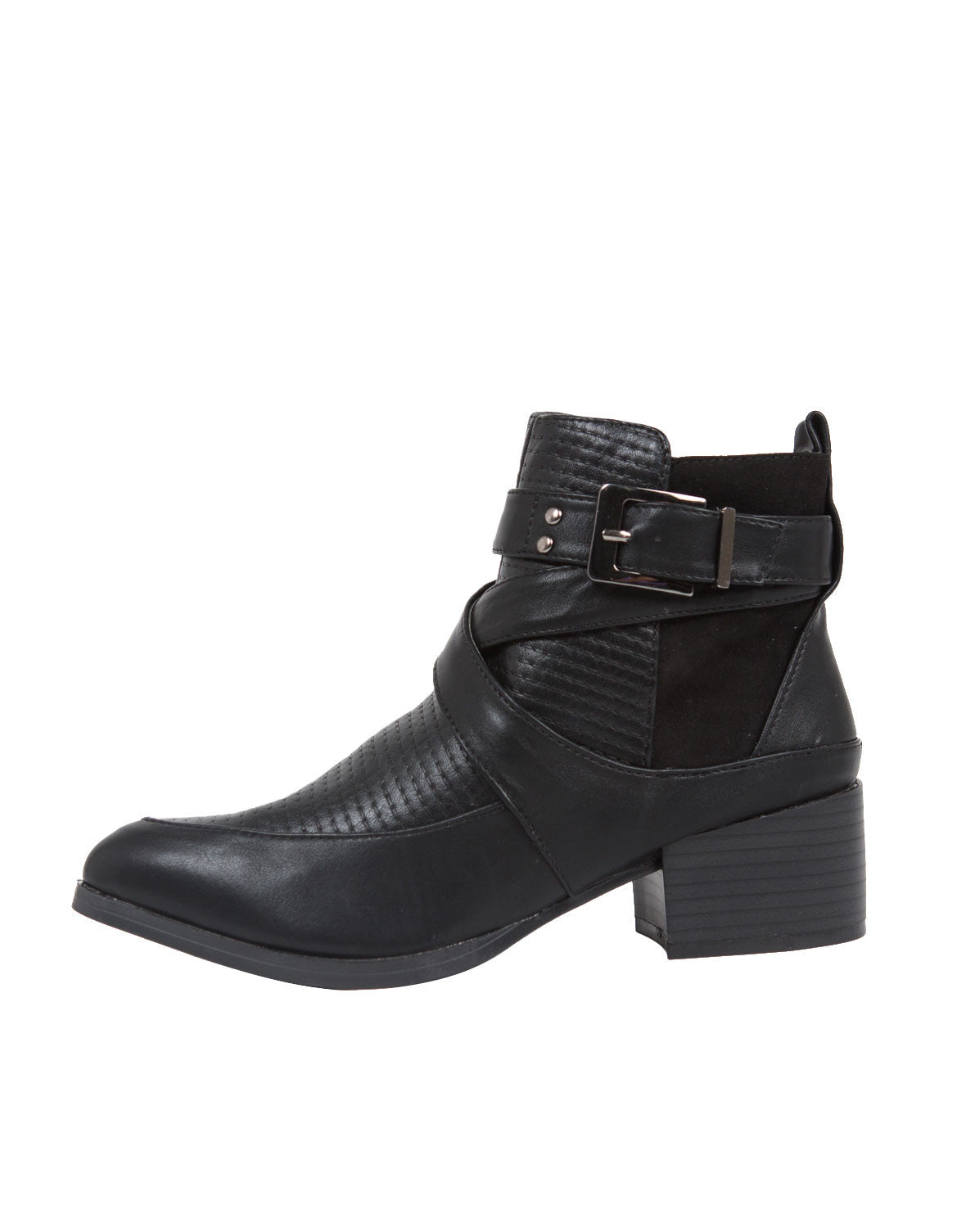 Moto Buckled Ankle Boots - 2020AVE