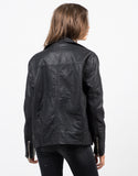 Back View of Moto Leatherette Jacket