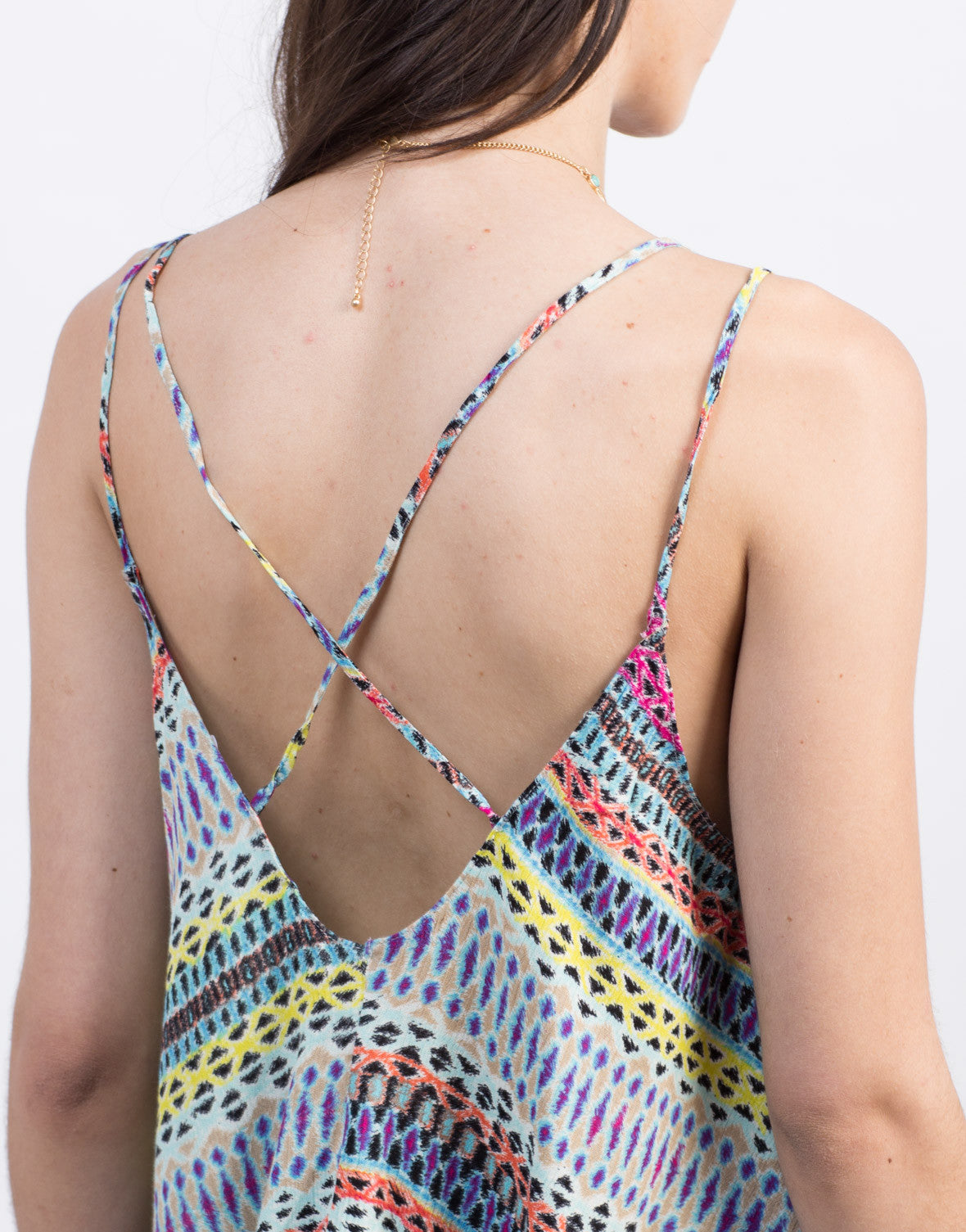 Detail of Multi Colored Printed Top