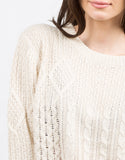 Detail of Multi Knit Boxy Sweater