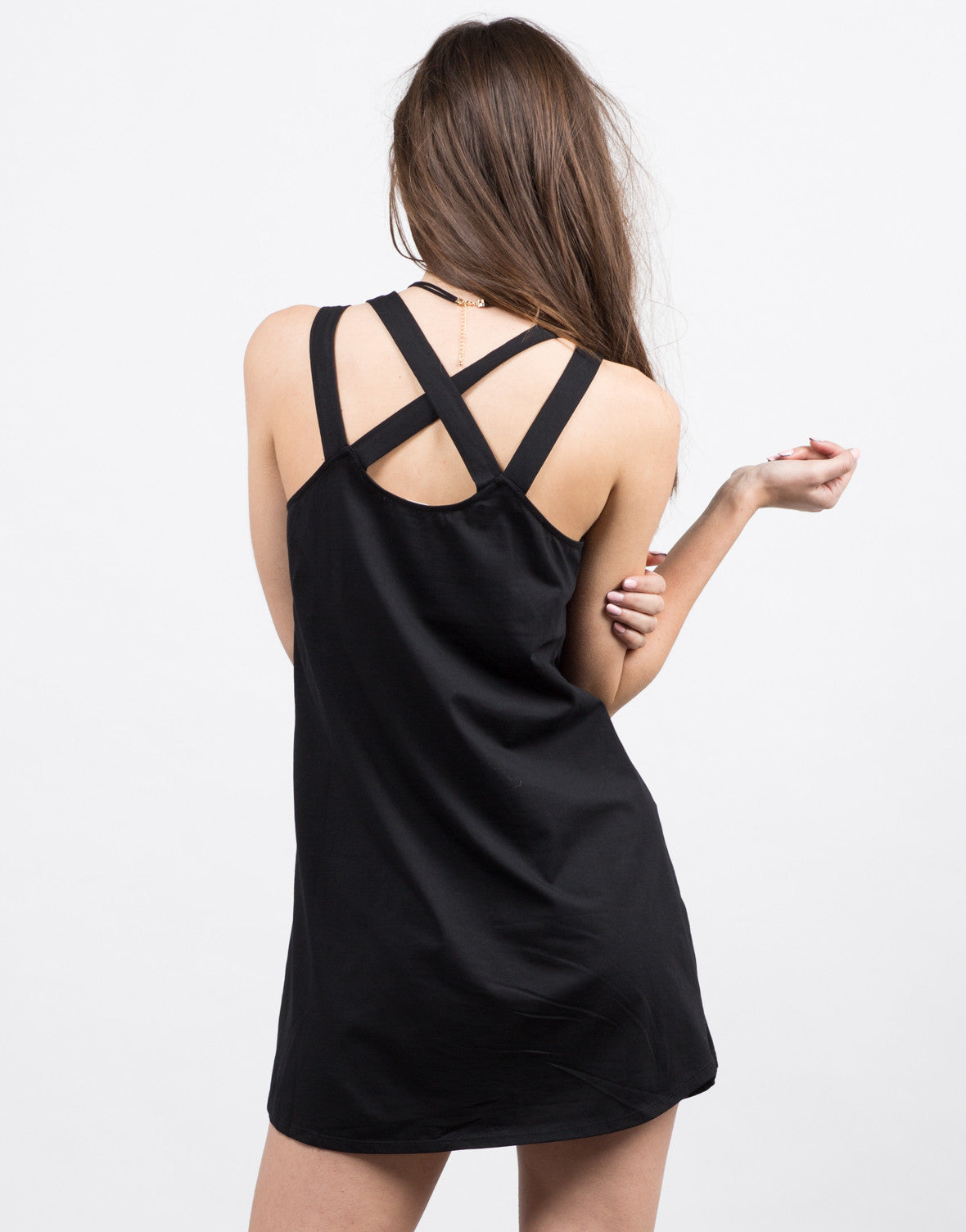 Back View of Multi Strap Tunic Dress