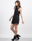 Side View of Multi Strap Tunic Dress