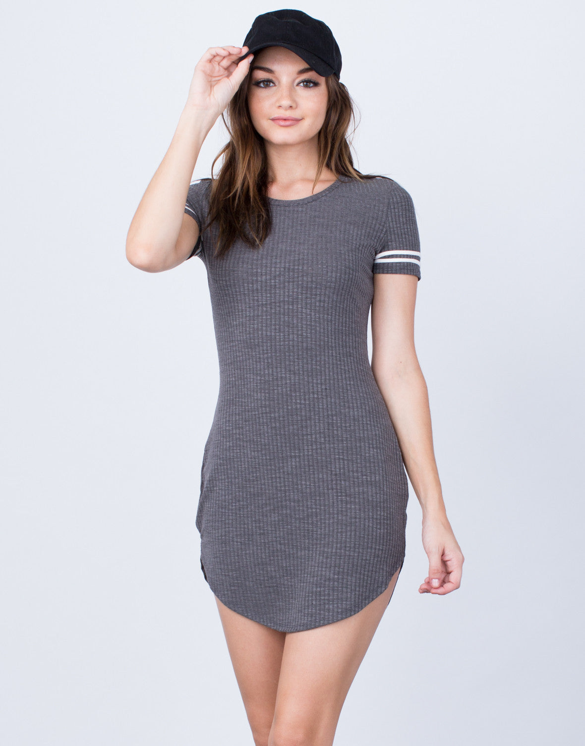 Front View of MVP Ribbed Dress