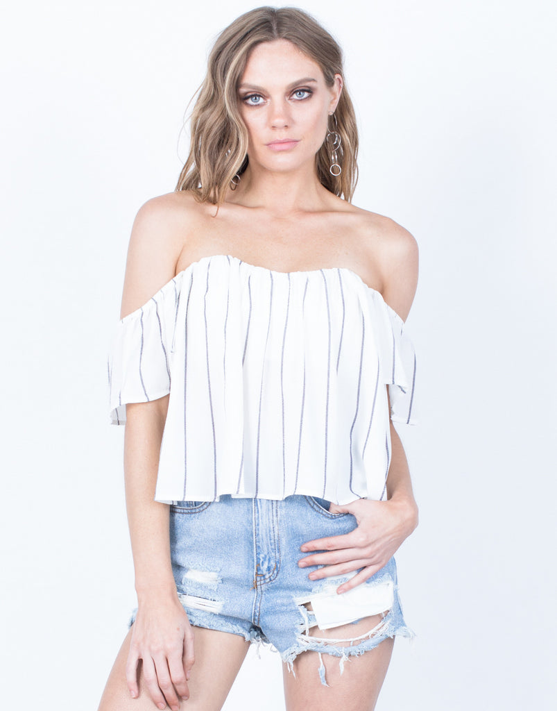 Front View of Natalie Striped Top