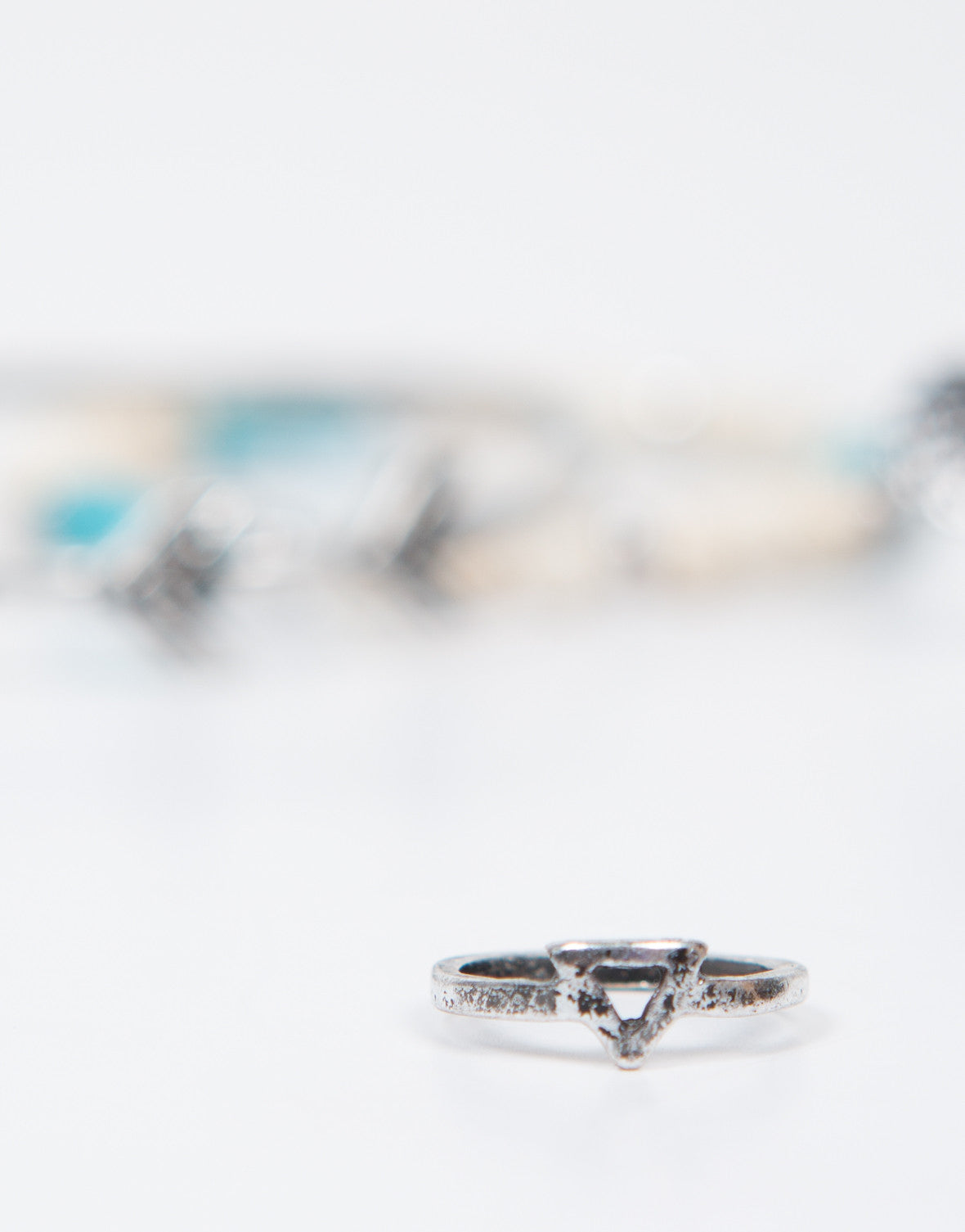 Detail of Native Double Bracelet Ring Set