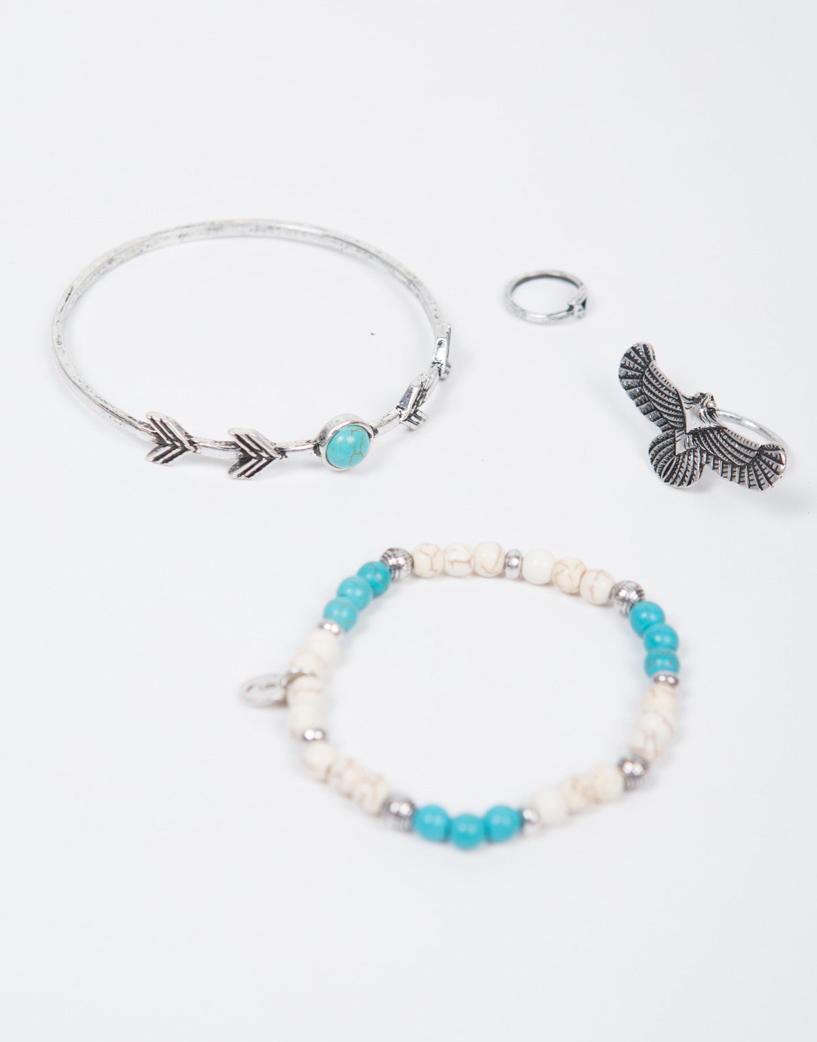 Native Double Bracelet Ring Set