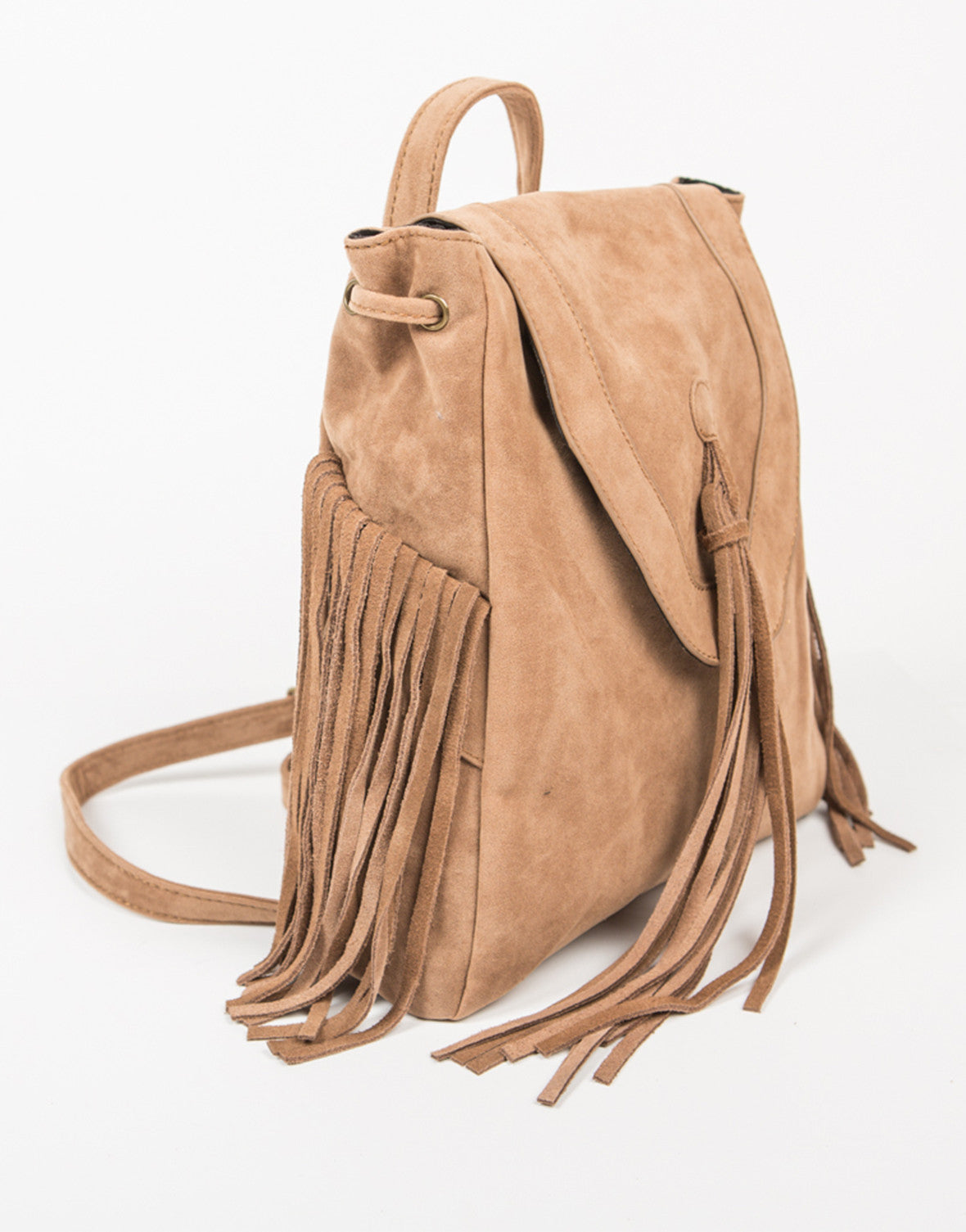 Side View of Native Fringed Backpack