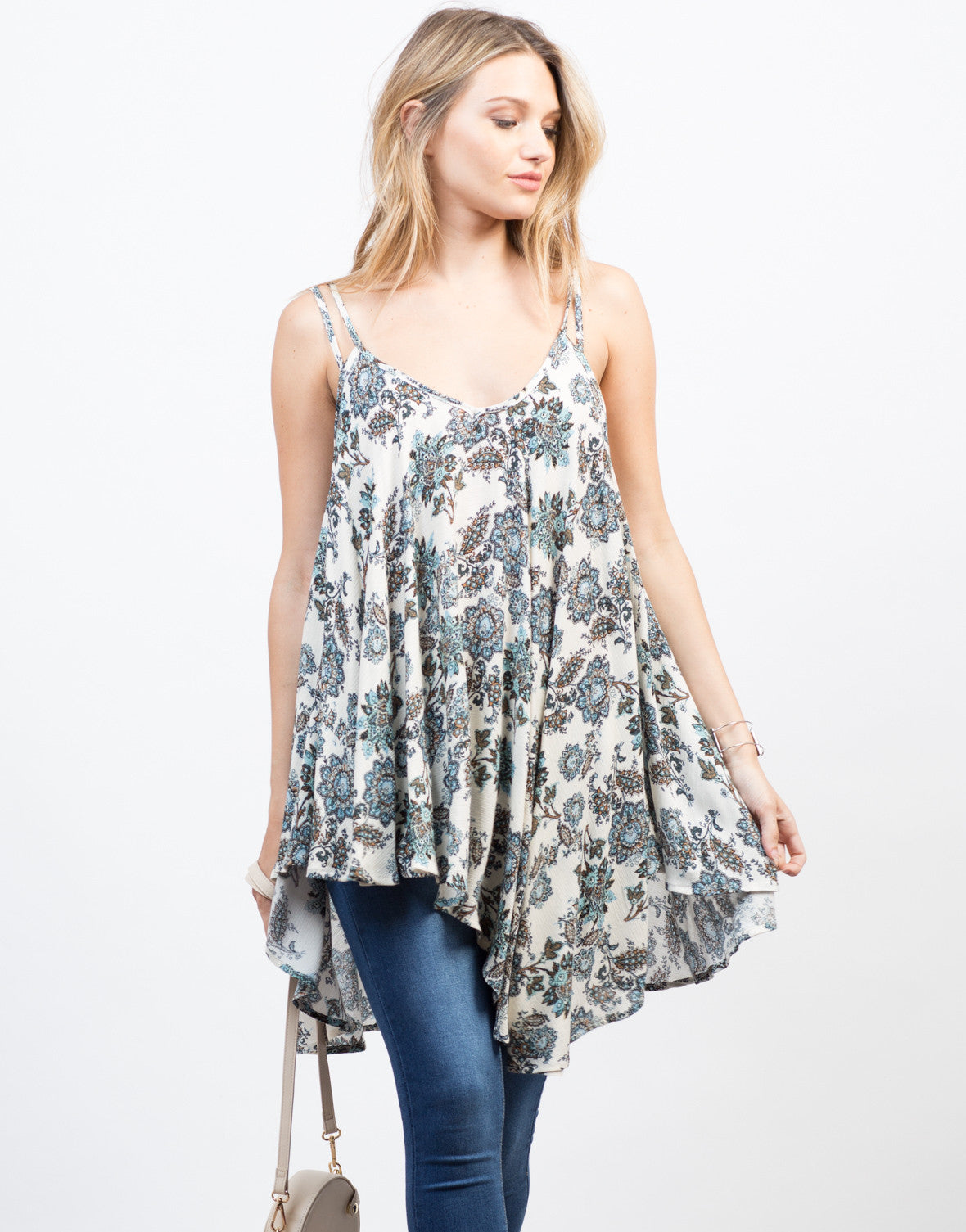 Front View of Nature Instinct Flowy Cami