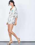 Ivory Nature Vibes Floral Romper - Side View