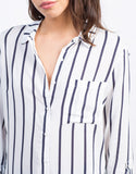 Detail of Nautical Striped Blouse