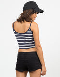 Back View of Nautical Striped Tank Top
