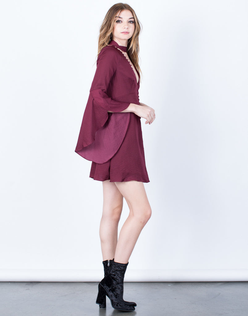 Neck Tie Flare Dress - 2020AVE