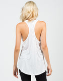 Back View of Need Coffee Graphic Tank