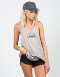 Front View of Need Coffee Graphic Tank