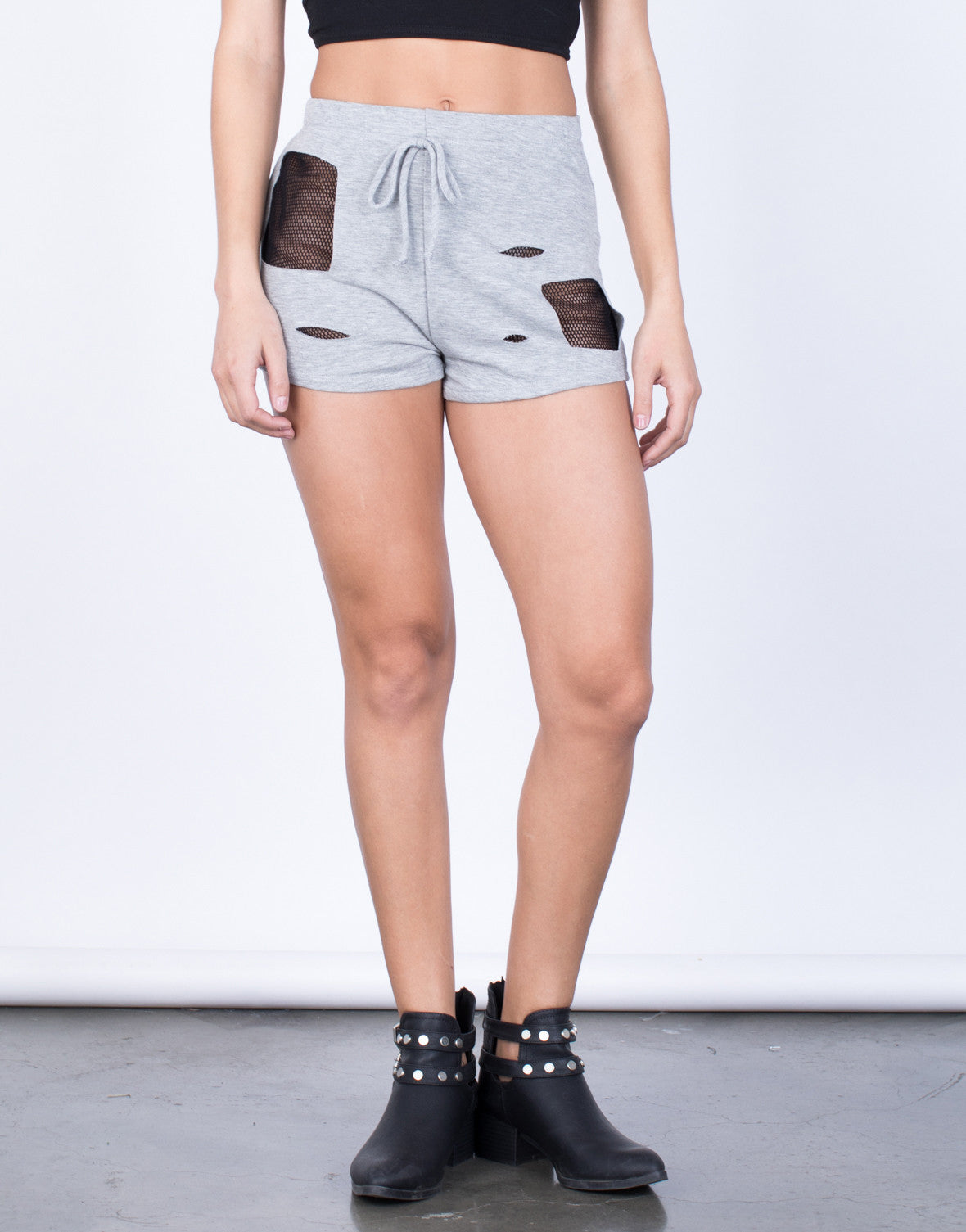 Front View of Netted Backdrop Shorts
