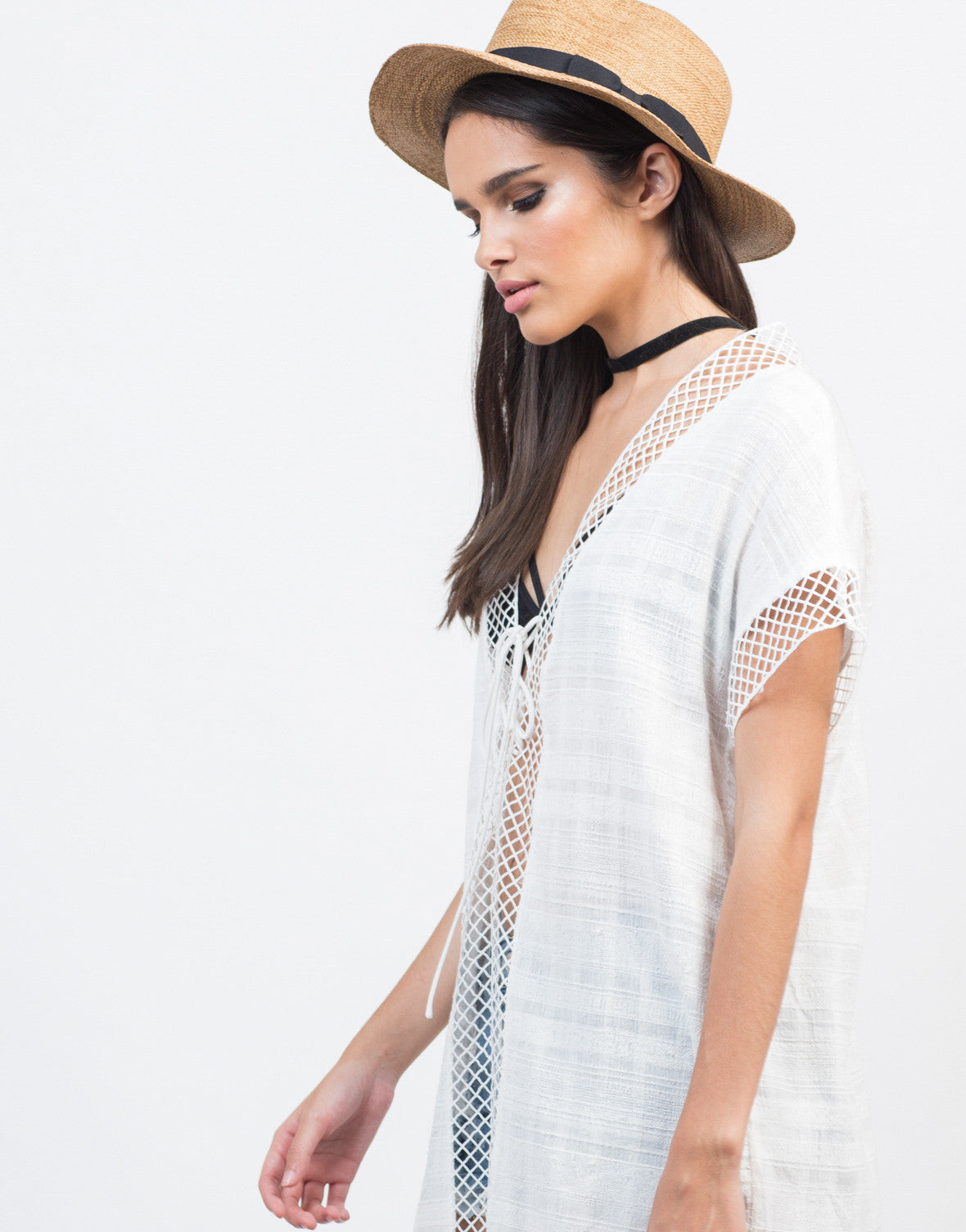 Netted Cut Out Top - 2020AVE