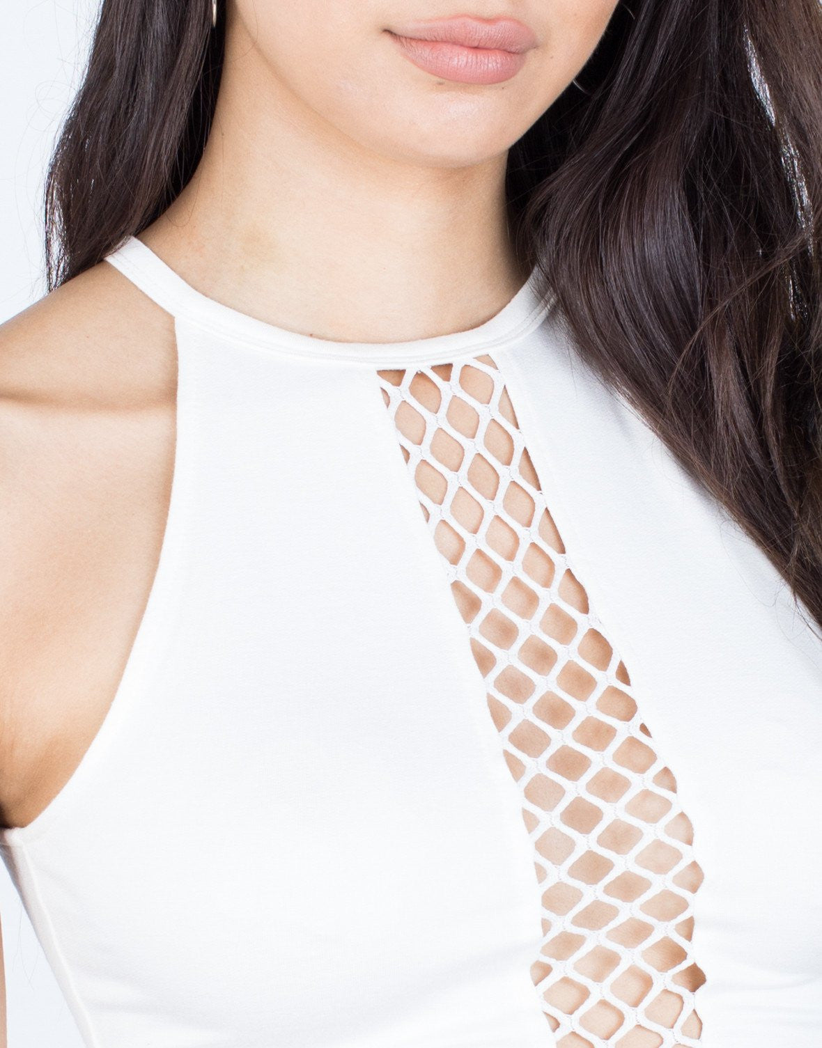 Netted Down Crop Top - 2020AVE