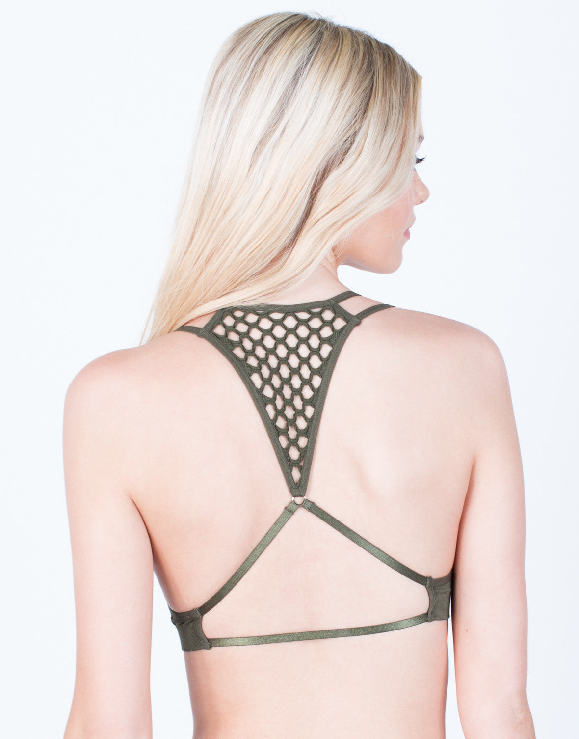 Back View of Netted Racerback Bralette
