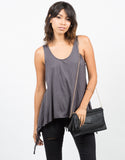 Front View of Netted Back Tank Top
