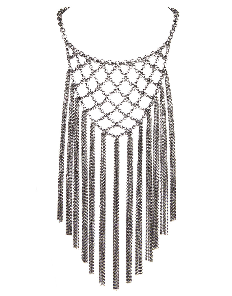 Netted Fringe Necklace - 2020AVE