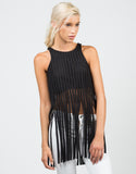 Front View of Netted Fringe Top